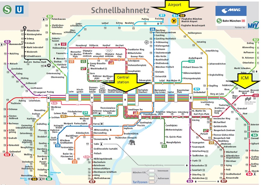 How to get to ICMMesse Munchen EAUN16 Munich